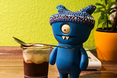 Uglyworld #2208 - What Has I Findereds - (Project On The Go - Image 40-365) (www.bazpics.com) Tags: blue wool kitchen look hat club project germany dessert toy deutschland blog cookie day action handmade chocolate crochet vinyl cream knit pudding spoon website aachen figure stare surprised cave 365 adventures february custom uglydoll 9th find wedgie uglydolls 2014 wedgehead hatclub uglyworld prettyugly barryoneilphotography adventuresinuglyworld uglyadventures