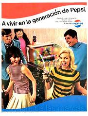 """Pepsi. """"A vivir la generación Pepsi"""". Años 80"""