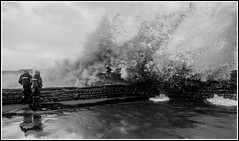 Wave (CliveDodd) Tags: storm bristol head wave anchor channel westonsupermare weston