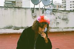 Mia (Nago Aznarez) Tags: girl smoke
