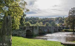 Le pont de moutier et La Creuse en Creuse