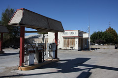 Abandoned gas station in Oro grande , California (sensaos) Tags: california old travel urban usa abandoned station shop america grande closed market decay exploring united mini 66 gas gasstation route forgotten mohawk states exploration derelict abandonment oro 2013 sensaos