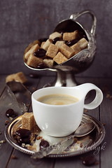 Cup of espresso, sugar cubes and chocolate candy (Iryna Melnyk) Tags: life morning food brown white black hot texture cup coffee cane metal closeup breakfast dark menu table wooden cafe still italian key energy candy natural drink sweet chocolate background traditional low rustic beverage plate spoon bowl bean retro sugar gourmet mocha cube mug espresso tongs caffeine toned liquid aroma