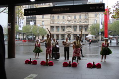 Hawaiian Airlines Shares Aloha and Gives Lei In Sydney (Hawaiian Airlines) Tags: music day hula performance sydney australia quay lei hawaiian airlines aloha circular leiday hawaiianairlines hawaiianair sydleiday