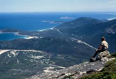 Tidal River from Mt Oberon - Victoria (Rikx) Tags: ocean park beach beautiful view australia victoria explore 35mmfilm minoltasrt101 mtoberon colourslide tidalriver wilsonspromontory colourpositivefilm