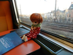 "A Blythe-a-day 16 september ""ONE"" little lady in the train"