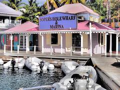 Soper's Hole, Tortola (Jwaan) Tags: ocean marina dock deck wharf periwinkle caribbean tortola westend dinghy bvi britishvirginislands westindies sopershole