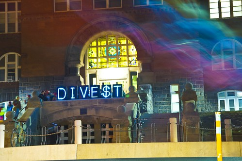 Divestment Wave Around the Nation by Light Brigading, on Flickr