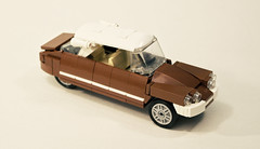 Citroen DS (OutBricks) Tags: lego afol car classic 6wide minifigscale moc instructions tutorial
