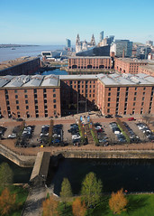 Wheel of Liverpool View (.annajane) Tags: liverpool merseyside aerial albertdock rivermersey river pierhead view warehouse dock uk england