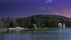Château de Dave -Meuse (Ⓨ a s m i n e Ⓗ e n s +4 900 000 thx❀) Tags: châteaudedave landscape sky meuse river hensyasmine boat péniche castle