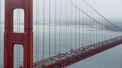 66/365 (16:9) Golden Gate Bridge (kristoffw) Tags: san fran sanfrancisco golden gate bridge fog sea traffic life bustling canon60d 60d film moody sigma 50mm