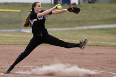 Pitching stride (stephencharlesjames) Tags: womens sports college sport softball pitcher action girls middlebury vermont