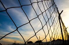sky Cage (Patricia Pinzan) Tags: sky cage blue yellow clouds sunset céu gaiola azul amarelo pôrdosol color explore explorar nexf3 urbano urban