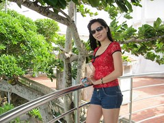 Miss Nguyen (Asian.Amour2) Tags: asia asian beautiful brunette beach black cute cutie classy dock elegant sexy girl gorgeous glasses happy danang harbour harbor jeans shorts lady blue oriental ocean woman pretty river sweet smile sunglasses vietnam vietnamese