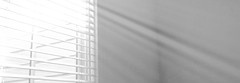 filtered light through window blinds (Lynn Friedman) Tags: home sun light filteredlight shadows banner horizontal monochrome 94117