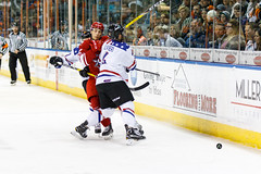 """Missouri Mavericks vs. Allen Americans, March 3, 2017, Silverstein Eye Centers Arena, Independence, Missouri.  Photo: John Howe / Howe Creative Photography • <a style=""""font-size:0.8em;"""" href=""""http://www.flickr.com/photos/134016632@N02/33232471786/"""" target=""""_blank"""">View on Flickr</a>"""
