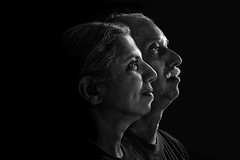 """Stalwarts (""""The Wanderer's Eye Photography"""") Tags: 2017 bw bangalore canoneos450d canoneosdslr canoneosrebelxsi digitalphotography family india photogenre photography portait portraitphotography rubenalexander susanalexander thewandererseyephotography blackwhite dad familyportrait father lowkey mom mother rimlight sidelight"""