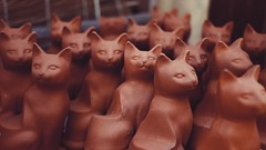 (killyourcar) Tags: cats gatos terracotta orange clay group figures figurines whimsy clowder clutter glaring
