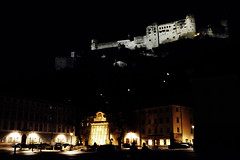 Salzburg top and bottom (.martinjakab) Tags: salzburg fortress festung architecture town availablelight night dark lightsandshadows nacht people x100t fujifilm ngc