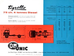 Dépliant publicitaire O.M. UNIC Tigrotto - 1960 (Cotes) (xavnco2) Tags: publicité advertising werbung pubblicità dépliant publicitaire folder brochure catalogue camion truck lorry autocarro lkw om tigrotto classic old 1960 véhicules gueguette80