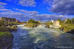 """Spokane River's Upper Falls (jimgspokane) Tags: spokanewashingtonstate spokaneriver spokanefalls upperfalls rivers waterfalls """"nikonflickraward"""" otw"""