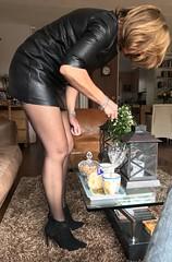 MyLeggyLady (RJT61) Tags: hildups stockings boots stilettos leather minidress legs heels