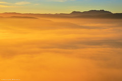The golden hour (Hector Prada) Tags: amanecer montaña luz sol niebla bruma dorado paisvasco paisaje invierno sunrise mountain sun light mist fog golden clouds hectorprada nature