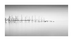 Fragility (^soulfly) Tags: longexposure batupahat johor malaysia fragility walkway seascape minimalistic simplicity monochrome blackwhite structure