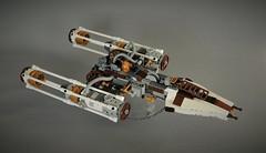Steampunk Y-wing (adde51) Tags: adde51 lego moc starwars steampunk steamwars steam steampowered ywing space spaceship
