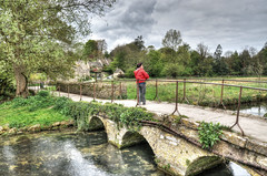Bridge over the River Coln, Bibury, Gloucestershire (Baz Richardson (trying to catch up again!)) Tags: gloucestershire bibury footbridges rivercoln streams arlingtonrow