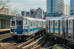 Dead and the Dying (Nick Gagliardi) Tags: trains railroad new york city ny nyc subway electric 7 line train irt interborough rapid transit dual contracts tomc many colors redbird redbirds r33 r33wf r36 r36wf mets baseball special citi field willets point bombardier r62a a division