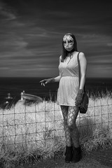 "Whitby Gothic Weekend (""A.S.A."") Tags: whitby whitbygothweekend northyorkshire britain infrared830nm goth gothic gothweekend sonya7rinfrared830nm zeisssonnarfe55mmf18za portrait blackwhite mono monochrome greyscale niksoftware silverefex asa2017"