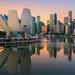 Morning sunrise of Singapore city