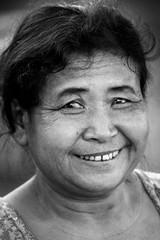 Portrait, Laos (pas le matin) Tags: laos lao asia travel world asie portrait candid street woman southeastasia bw nb noiretblanc blackandwhite monochrome canon 7d canon7d canoneos7d eos7d