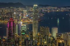 The Peak (rahe.johannes) Tags: hong kong hongkong china grosstadt metropole blauestunde skyline lichter wasser stadt hochhäuser wolkenkratzer hafen