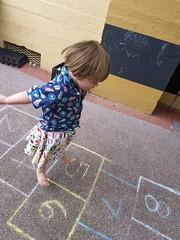 Hopscotch (quinn.anya) Tags: jumping sam preschooler skirt hopscotch