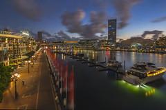 Darling Harbour Evening (satochappy) Tags: sydney darlingharbour cocklebay australia harbour sunset twilight bluehour