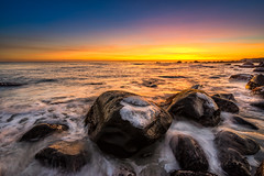 Elements (Richard Larssen) Tags: richard richardlarssen rogaland rocks beach larssen landscape light norway norge norwegen nature nd filter ice coast coastline horizon jæren hå sony scandinavia sea seascape sunset sel1635z alpha teamsony photography a7ii emount