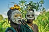 Surma girls. (María Velázquez de Castro) Tags: surma surmi suri tribe tribu people gente ethiopia etiopia children girls flower portrait portraits retrato tribal