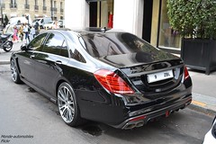 Mercedes Brabus 850 Biturbo (Monde-Auto Passion Photos) Tags: vehicule auto automobile mercedes brabus classe berline noir biturbo sportive france paris
