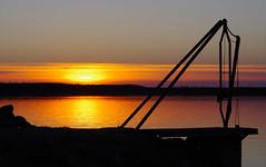 Rusted iron (STTH64) Tags: sea seaside sun sunset eve rust rusted winch rocks shadow