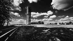 20150821 - Aquatower Berdorf-5 (OliGlo1979) Tags: berdorf d810 luxembourg monument nikkor1424 nikon watertower aquatower blackwhite bw ultrawide dramatic