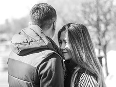 Anastasia + Roman (You Fight Me) Tags: love couple lovingcouple girl boy man woman together lovely outdoor blackandwhite black white spring april 2017 april2017 spring2017 canon canon60d 60d 50mm f14