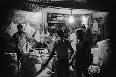 Night Markets (Darinka Maja) Tags: india bw 35mm film canon sigma travel life journey street