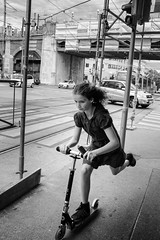 Untitled (Alex Cruceru) Tags: 2016 austria bw blackwhite candid city finepix fujifilm girl mirrorless moments mono monochrome people roller story stradal street streetphotography streettogs urban vienna wien x100s xseries österreich