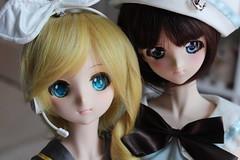 Yuki and Himeka (bronzephoenix) Tags: volks dollfie dream dd dds rin moe