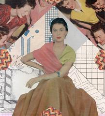 Rita:Rina (kurberry) Tags: collage analoguecollage cutpaste vintageephemera orange