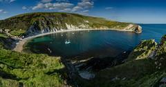 Lulworth Cove (Peter Quinn1) Tags: lulworthcove westlulworth limestone jurassiccoast purbeck turquoise dorset beach seaside cliffs