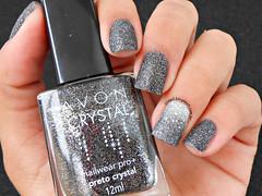 Preto Crystal - Avon (Lily's Nail) Tags: avon sand liquidsand degradê nailart nails unhas unhasdecoradas